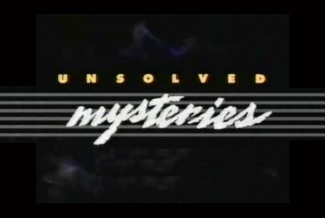 Unsolved Mysteries is back! The show that started it all for me